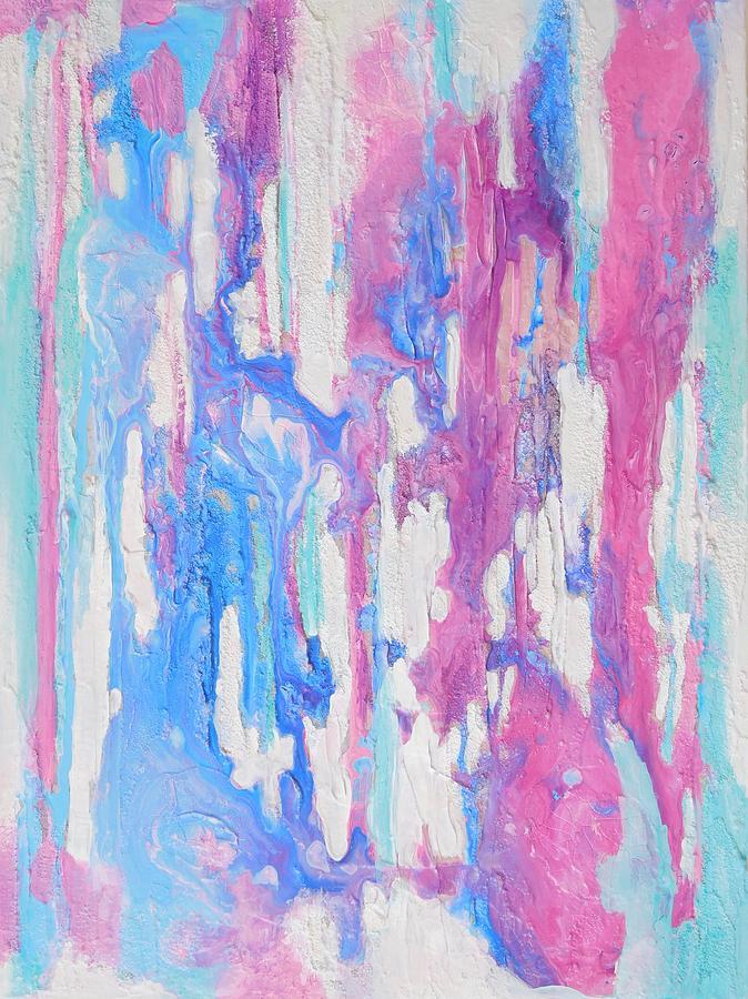 Stripes Mixed Media - Eternal Flow by Irene Hurdle