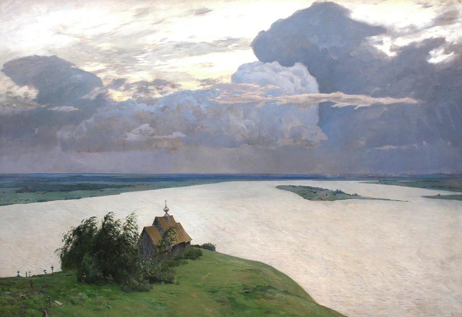 Isaac Levitan Painting - Eternal Peace by Isaac Levitan