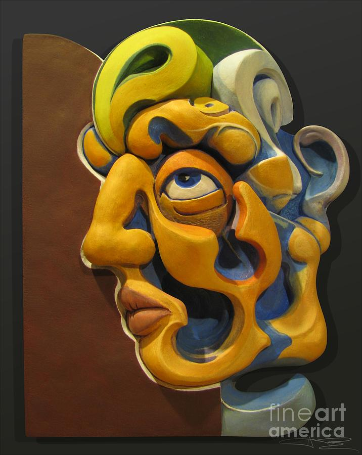 James Day Sculpture - Eternal Thoughts Of A Mortal Mind by James Day