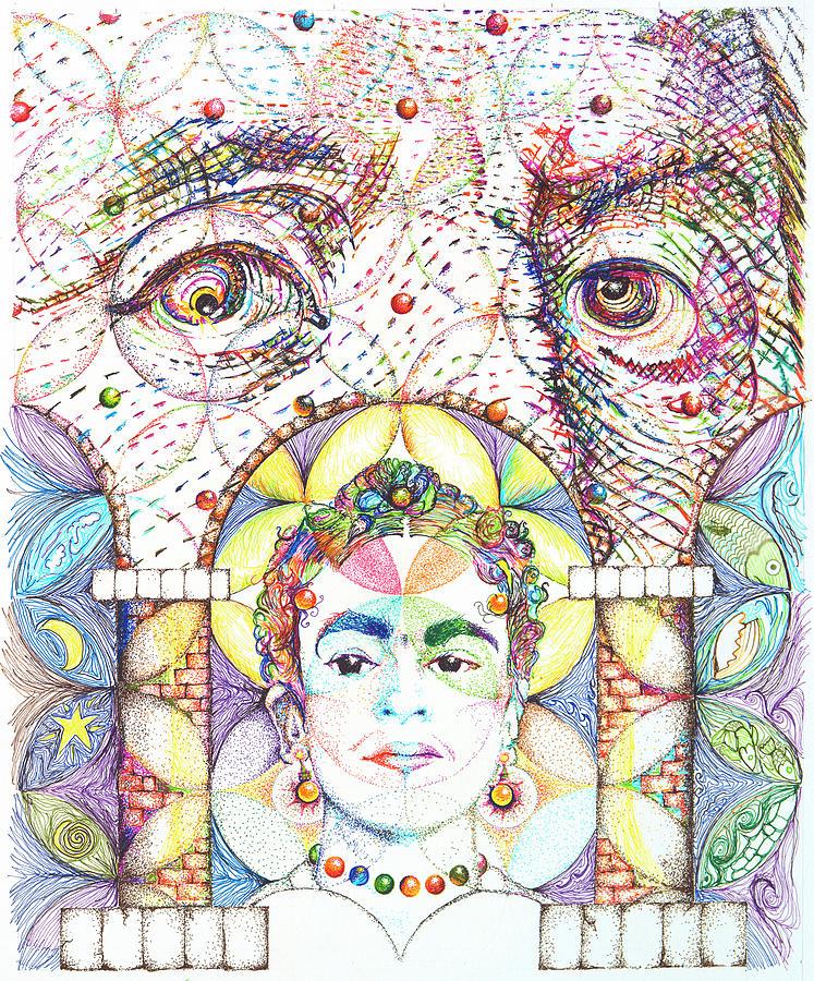 Ben Franklin Drawing - Eternidad- Sombra De Arreguin by Doug Johnson