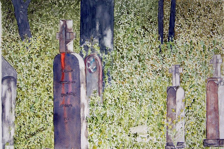 Cemeteries Painting - Eternity In Hoonah by Larry Wright