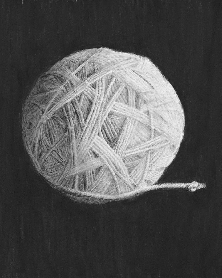 Yarn Drawing - Eternity by Jyvonne Inman