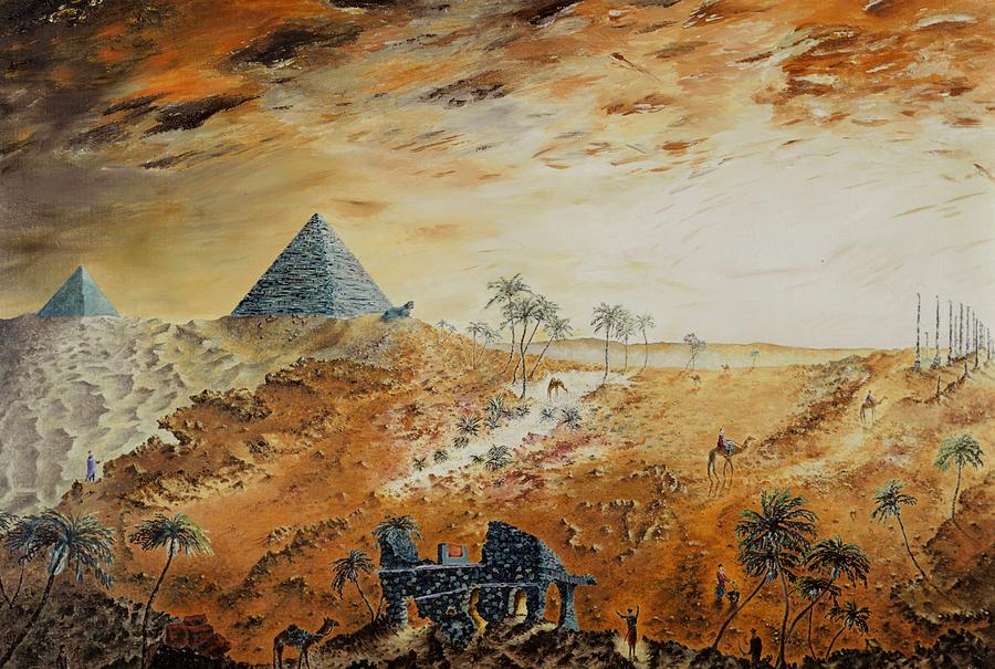 Egypt Painting - Eternity by Richard Barham