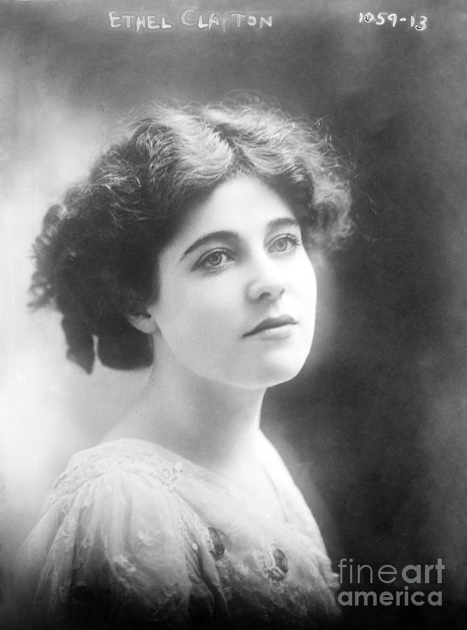 1910s Photograph - Ethel Clayton - 1910s by Sad Hill - Bizarre Los Angeles Archive