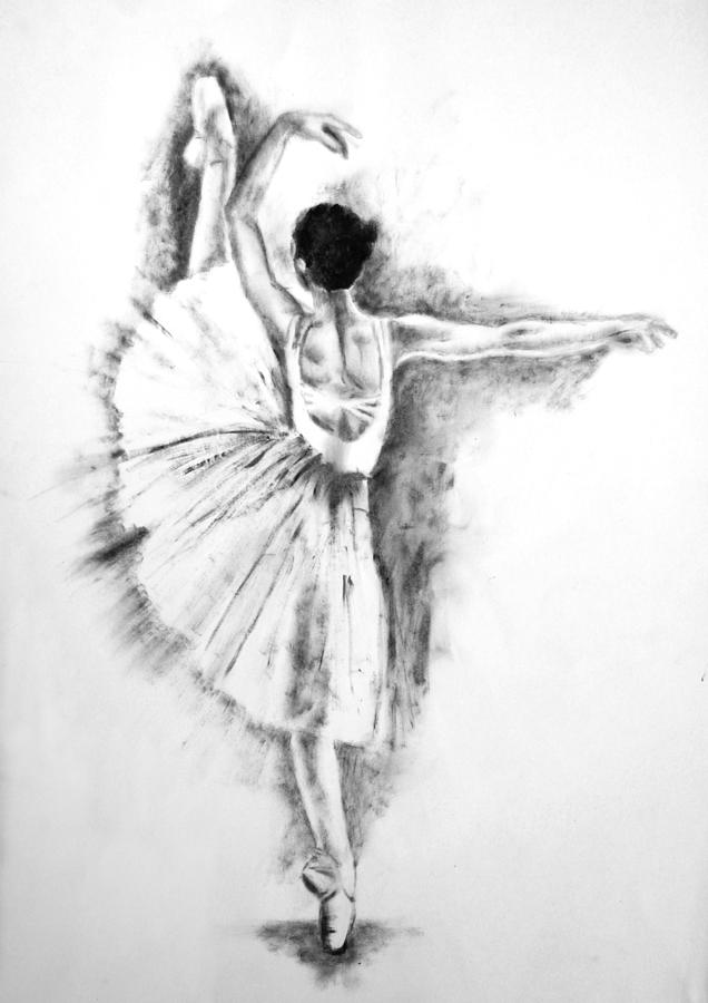 Ballerina painting ethereal black and white ballerina poster 6 by diana van by diana