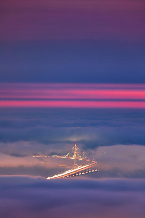 San Francisco Photograph - Ethereal Bridge, Oakland Bay Bridge by Vincent James