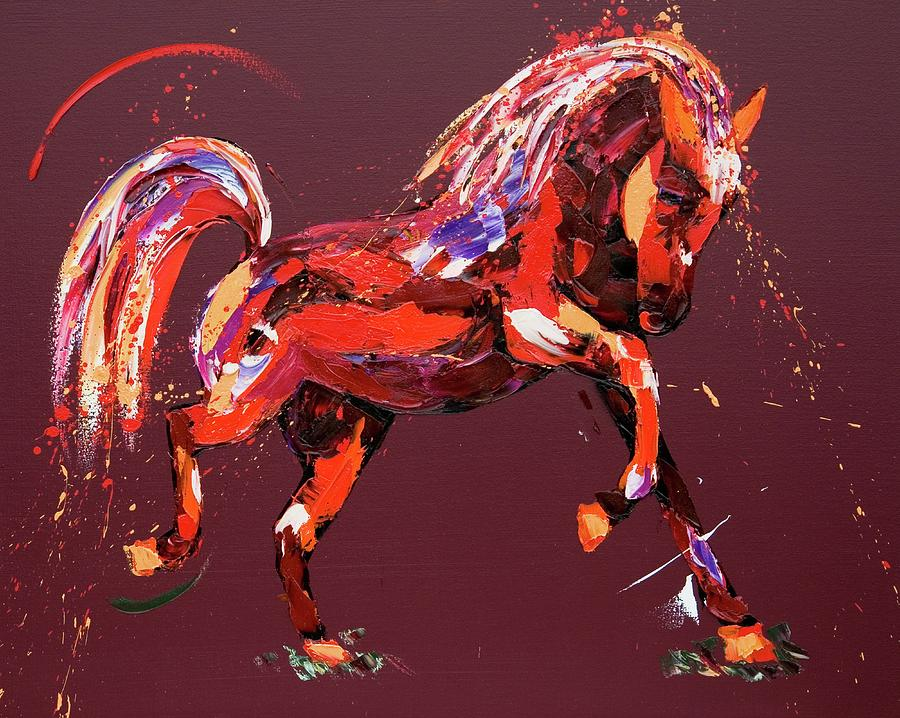 Horse Painting - Ethereal Dream by Penny Warden