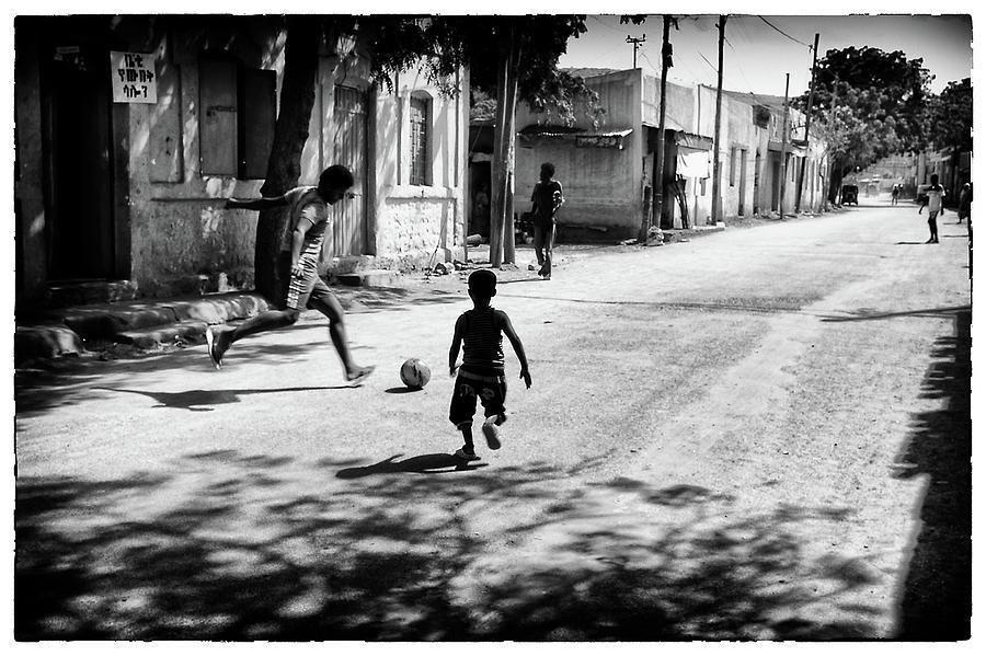 Phil dawson photograph ethiopian street football 1 by phil dawson