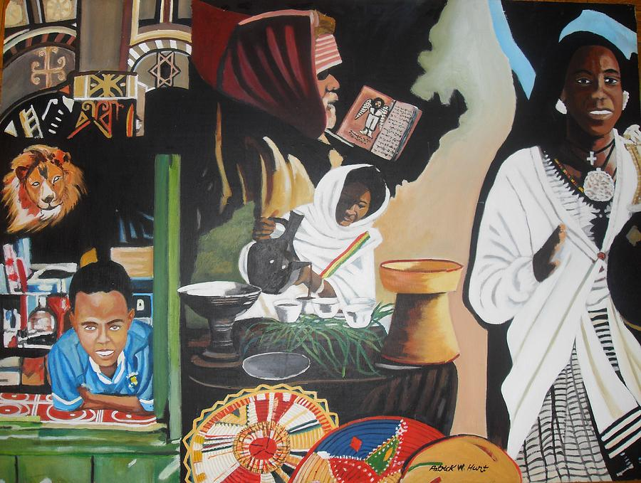 Ethiopia Painting - Ethiopian Traditions by Patrick Hunt