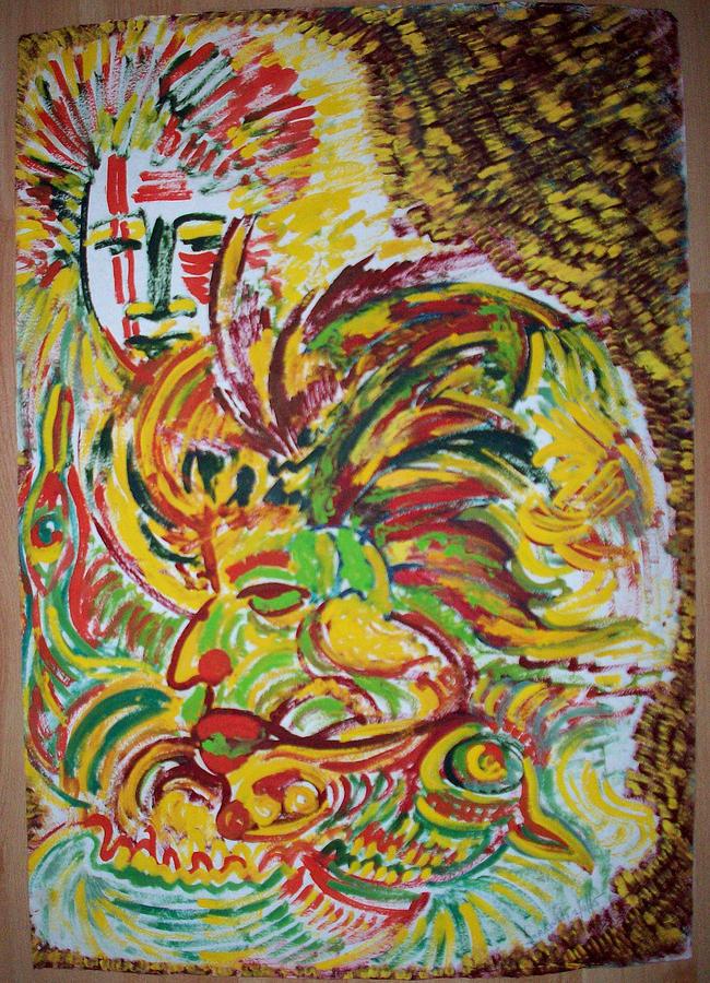Ethnic Painting - Ethnic by Helene  Champaloux-Saraswati