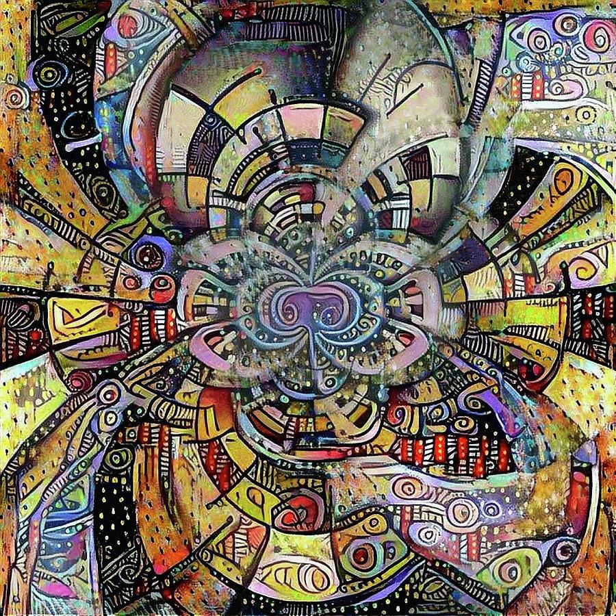 Ornament Digital Art - Ethnic Motif by Bruce Rolff