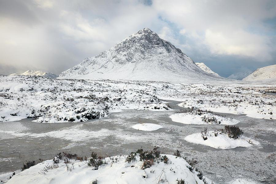 Buachaille Etive Mor Photograph - Etive Mor Winter by Grant Glendinning