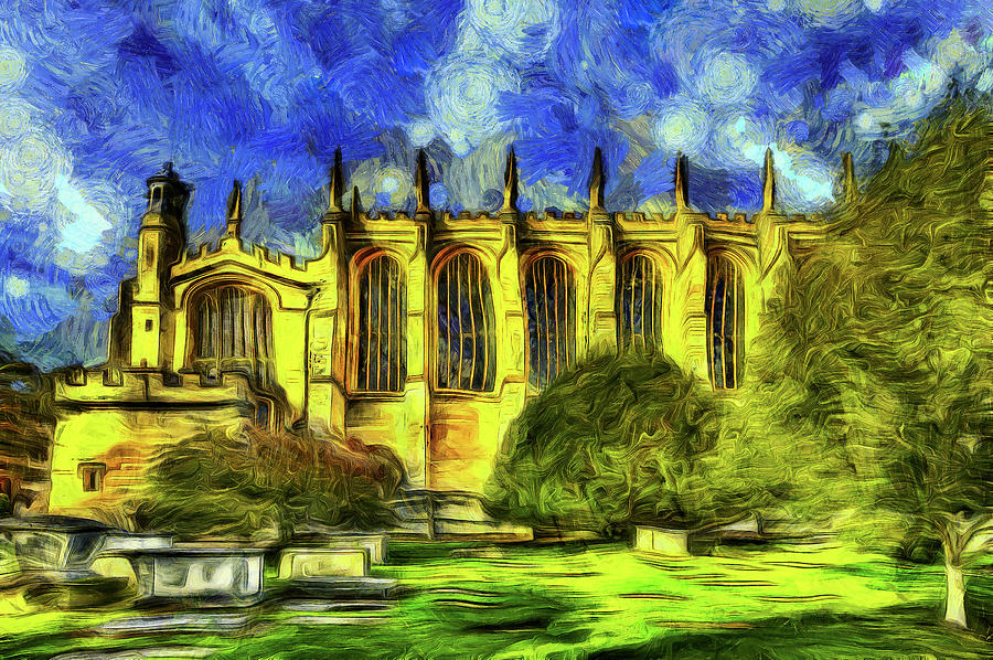 Vincent Van Gogh Mixed Media - Eton College Chapel Art by David Pyatt
