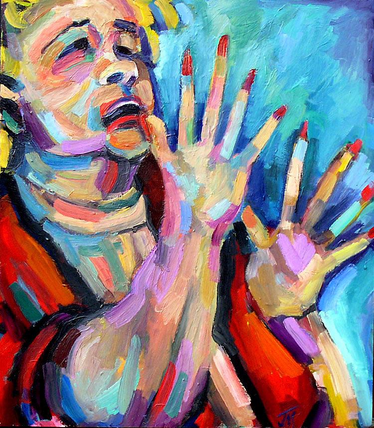 Etta James- At Last Painting by Jackie Merritt