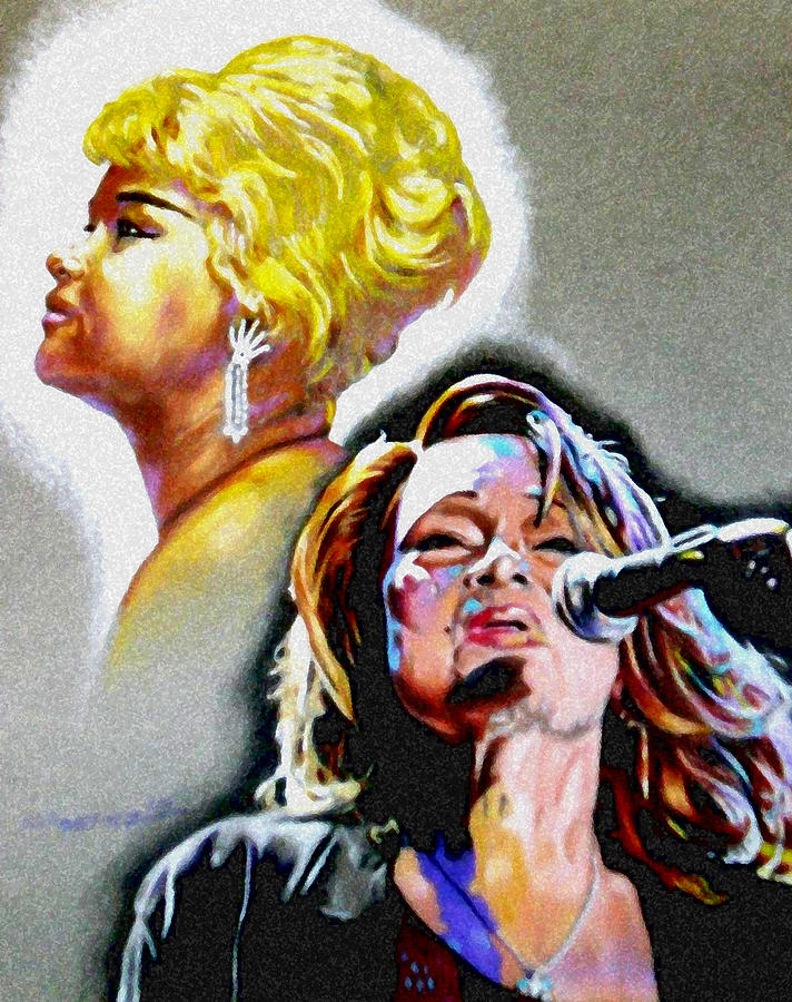 Etta James Drawing - Etta James by Christopher Martinez