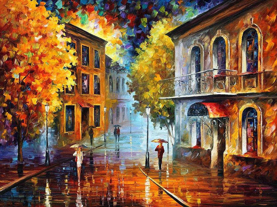 Afremov Painting - Etude In Red by Leonid Afremov