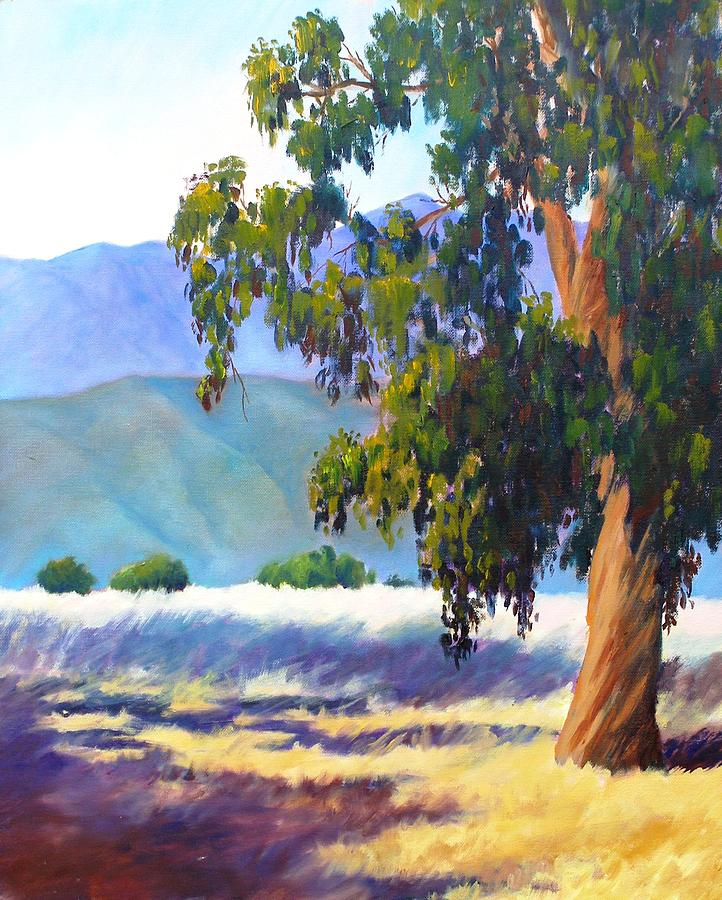 Tree Painting - Eucalyptus On The Bluffs by Dorothy Nalls