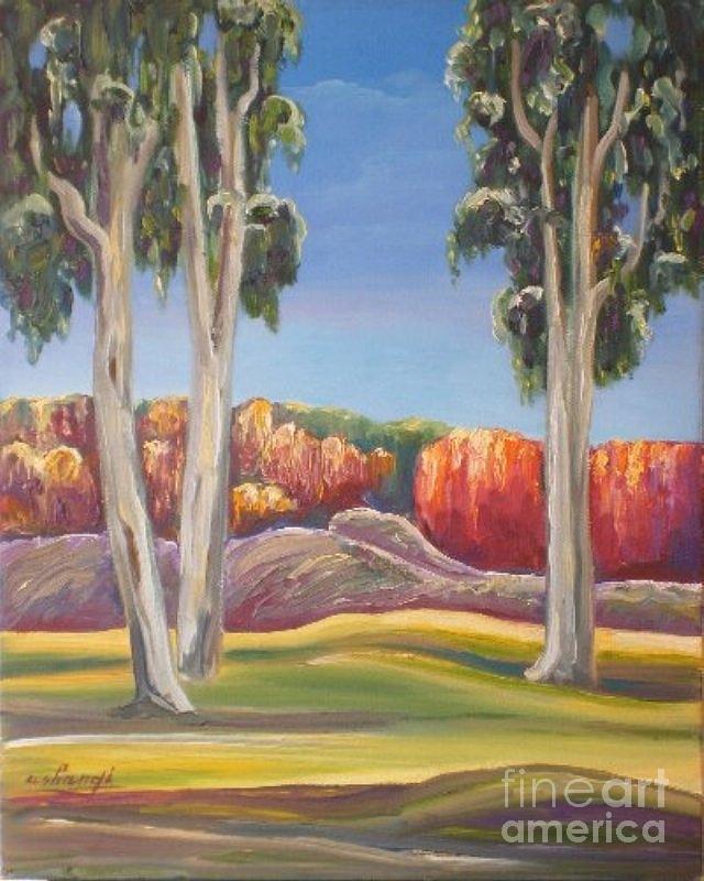 Eucalyptus Painting - Eucalyptus by Ushangi Kumelashvili