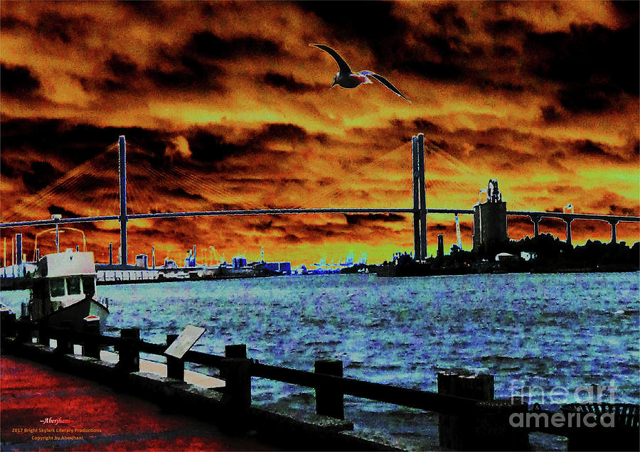 American Bridges Photograph - Eugene Talmadge Memorial Bridge And The Serious Politics Of Necessary Change No. 1 by Aberjhanis Official Postered Chromatic Poetics