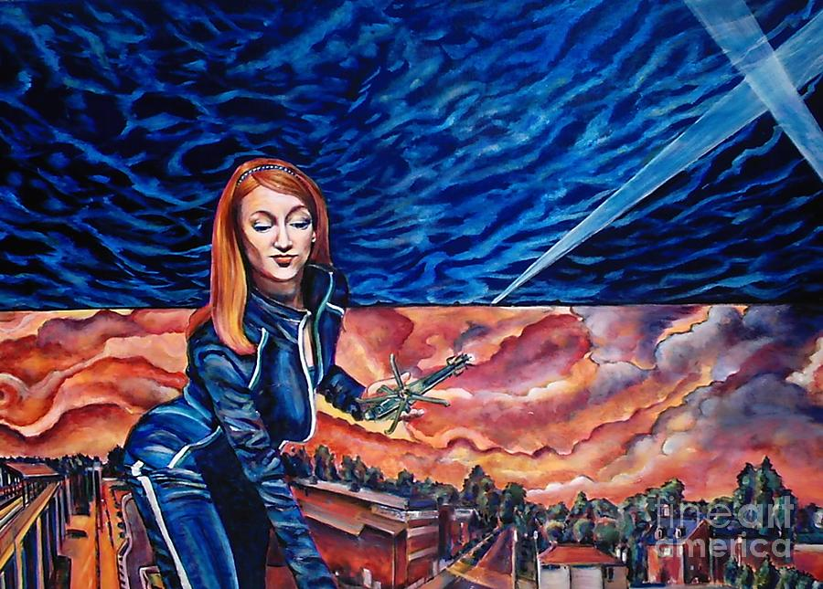 Redhead Painting - Euphoria Hits The Town-sold by Mirinda Reynolds