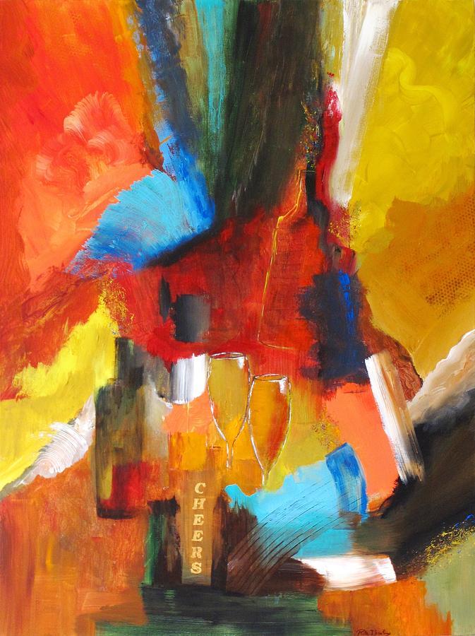 Expressionism Painting - Euphoria  by Rita  Ibrahim