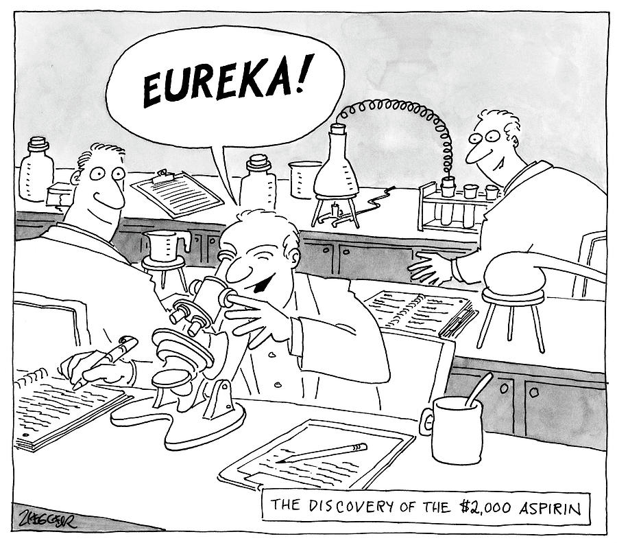 Eureka Drawing by Jack Ziegler