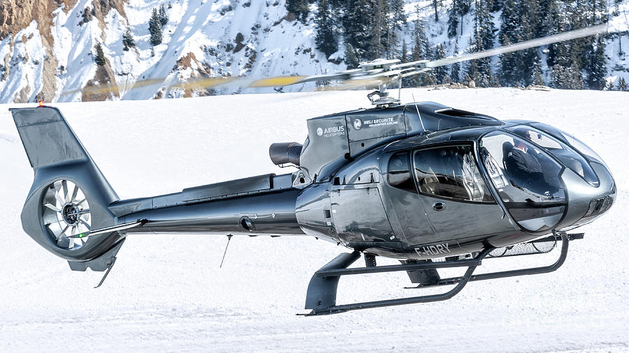 Eurocopter Photograph - Eurocopter Ec130 F-hdry Helicopter by Roberto Chiartano