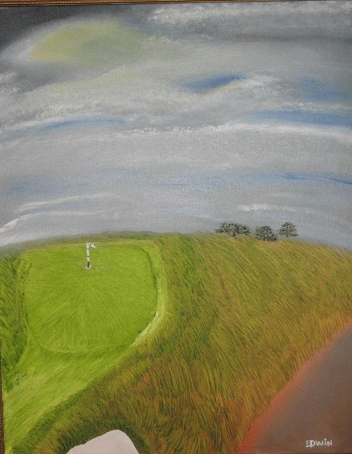 Landscape Painting - European Golf Tour by Edwin Long