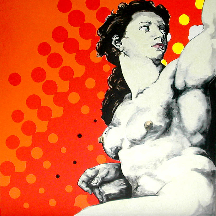 Pop Painting - Eva by Jean Pierre Rousselet