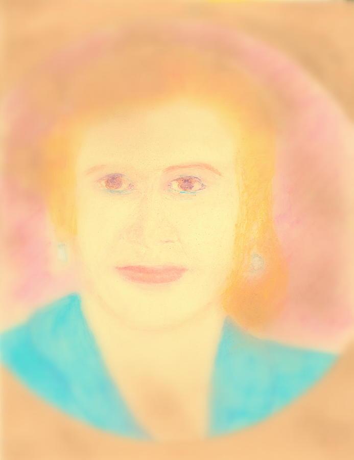 Eva Peron Painting - Eva Peron Soft Focus Gold by Richard W Linford