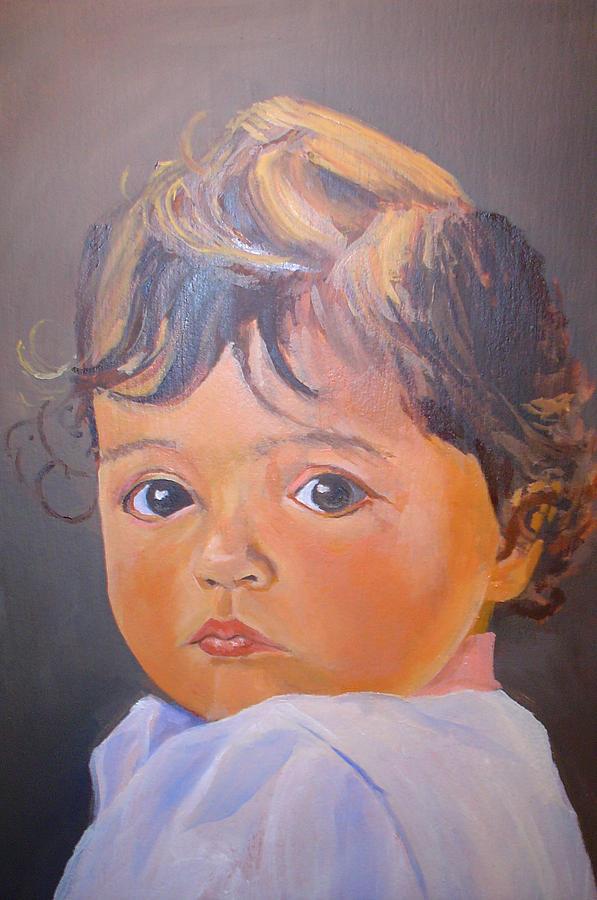 Portrait Painting - EVA by Ron Imbriglio