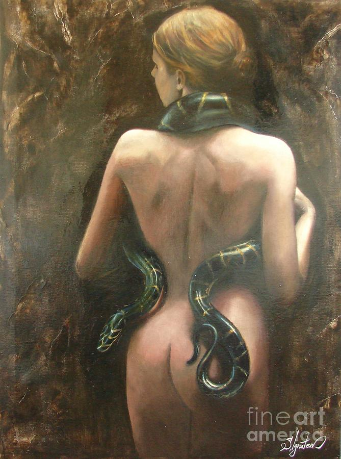 Oil Painting - Eva by Sergey Ignatenko