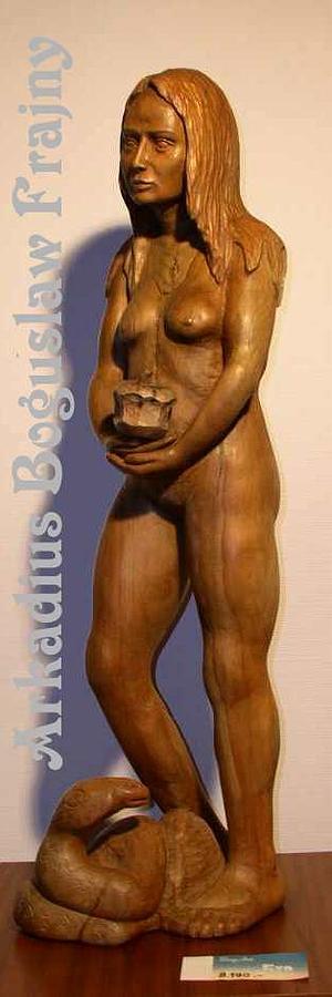 Eve Sculpture - Eva With Apple by Frajny Arkadius Boguslaw