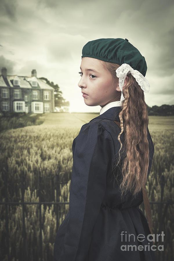Young Photograph - Evacuee Girl by Amanda Elwell