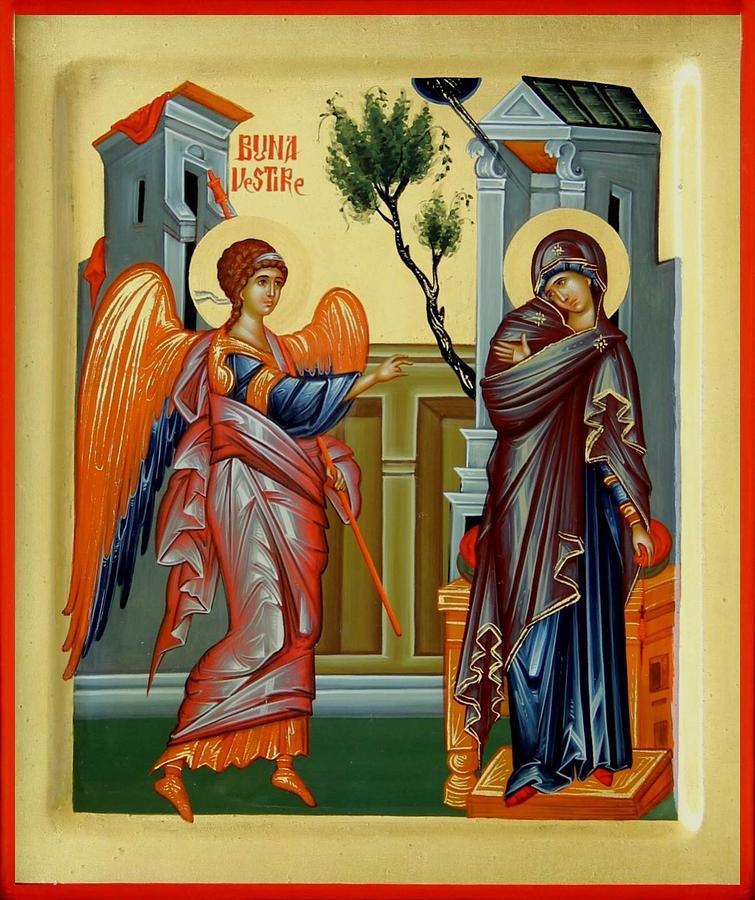 Annunciation Painting - Evanghelismos by Daniel Neculae