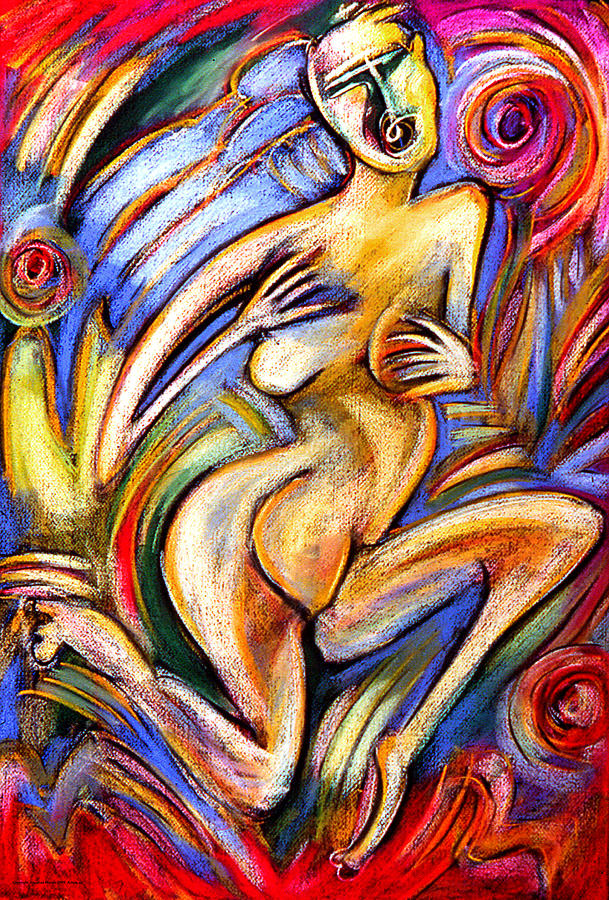 Figurative Painting - Eve In The Garden by Angelina Marino