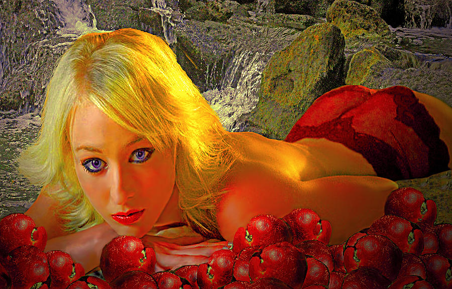 Eve In The Garden With Apples Photograph