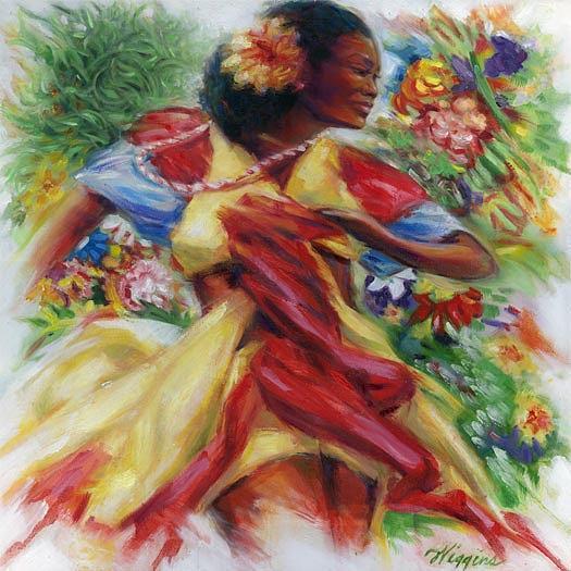 Eve N Bloom Painting by Wendell Wiggins