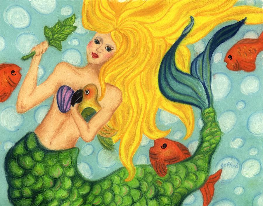 Pastels Painting - Eve the Mermaid by Norma Gafford