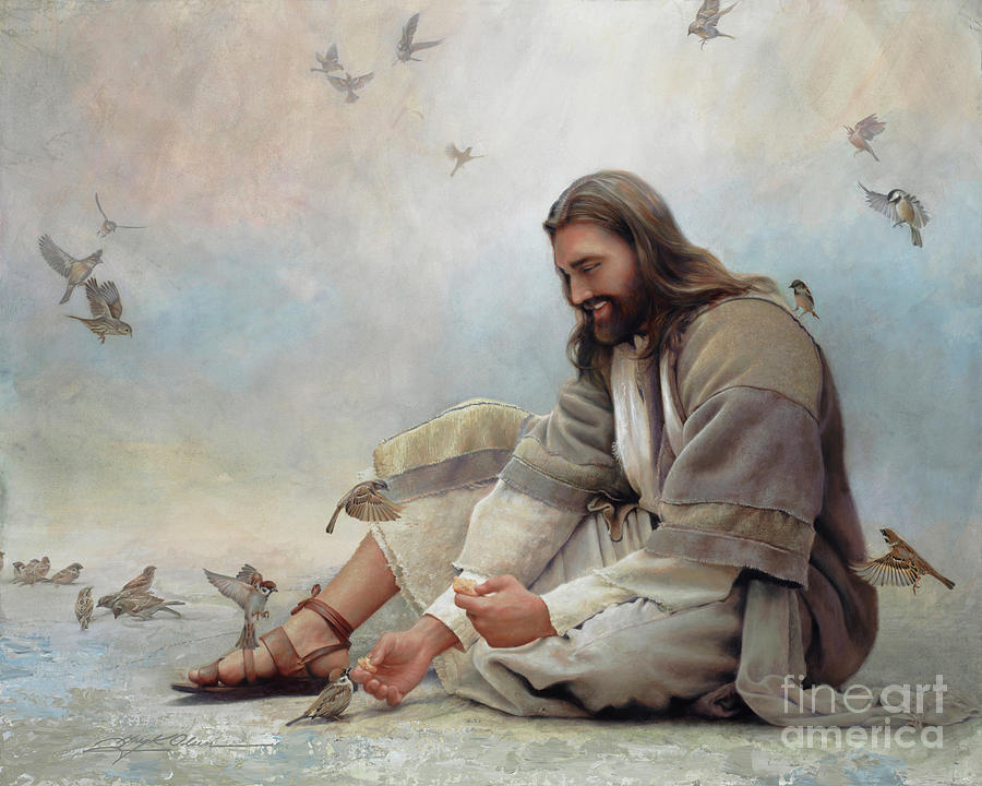 Jesus Painting - Even A Sparrow by Greg Olsen