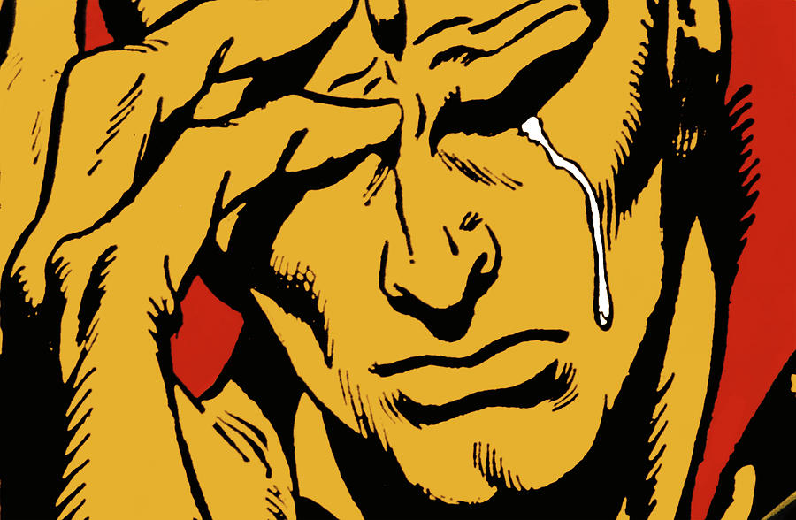 Comic Photograph - Even An Android Can Cry by Brian Middleton