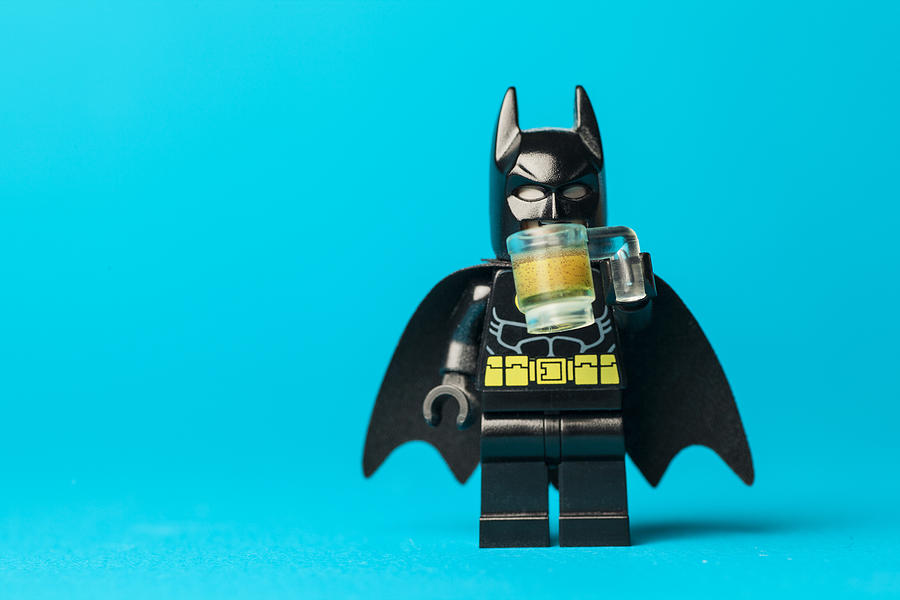 Batman Photograph - Even Batman needs a beer by Samuel Whitton