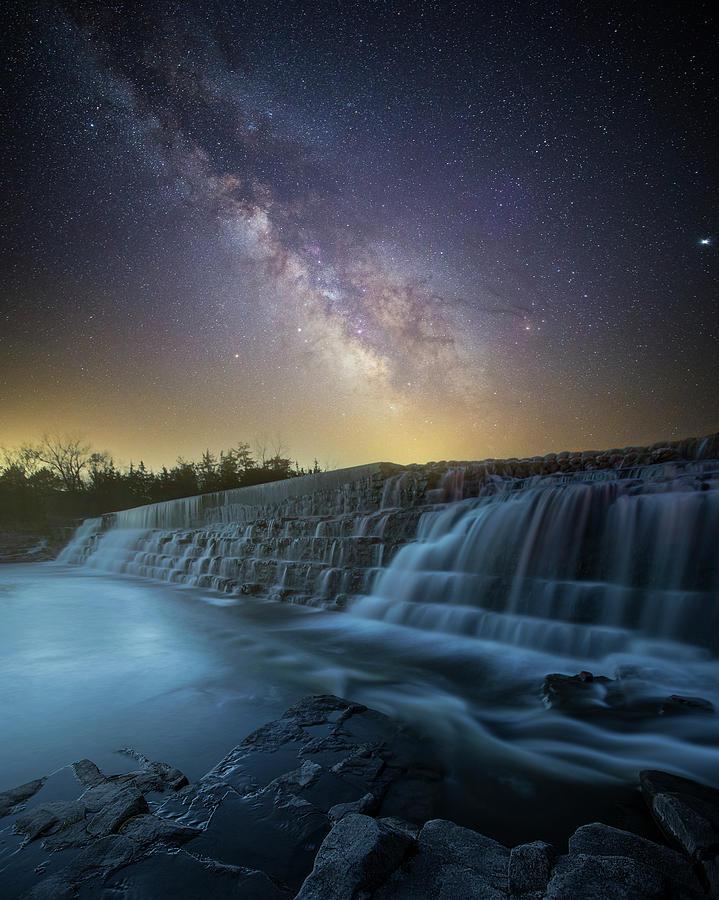 Milky Way Photograph - Even Flow by Aaron J Groen