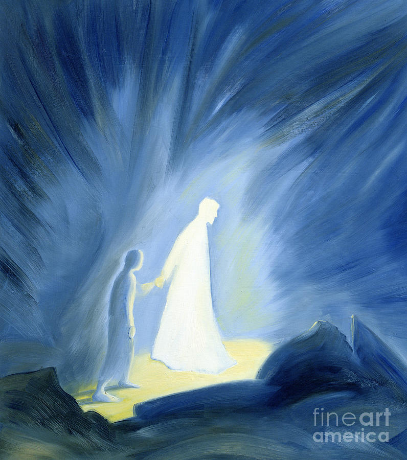 Life Of Christ Painting - Even In The Darkness Of Out Sufferings Jesus Is Close To Us by Elizabeth Wang