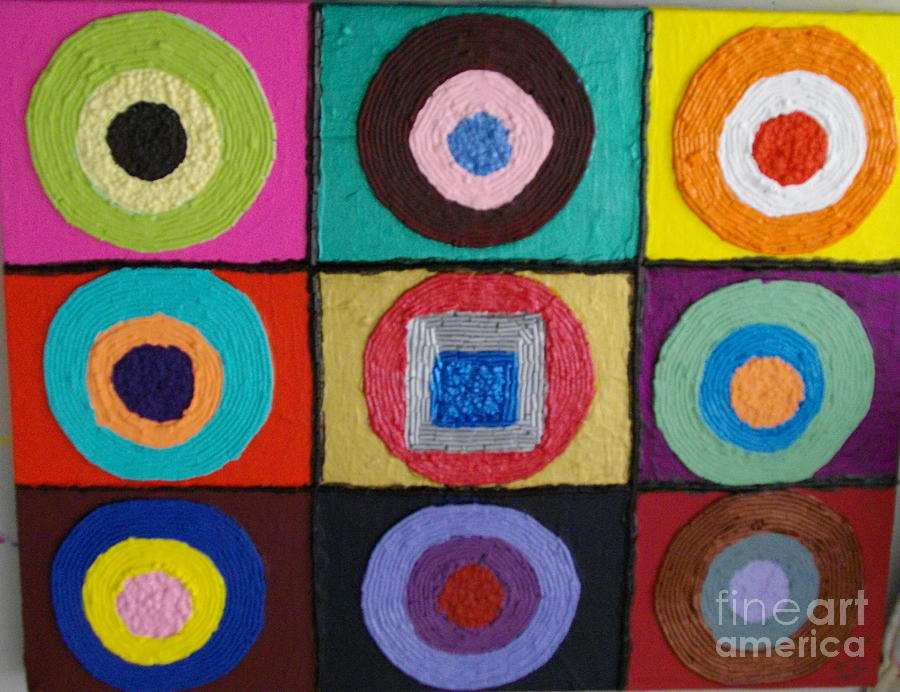 Even Squares Fit Mixed Media by Jeffrey Foti