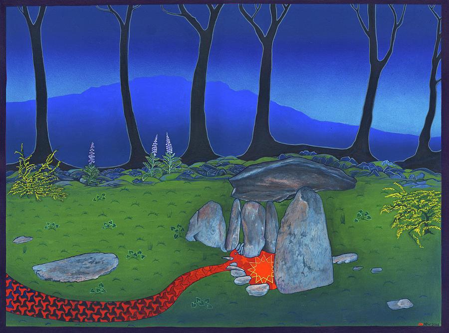 Shaman Painting - Even Stars Die by Nicholas Breeze Wood