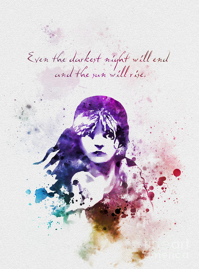 Even The Darkest Night Will End Mixed Media by Rebecca Jenkins