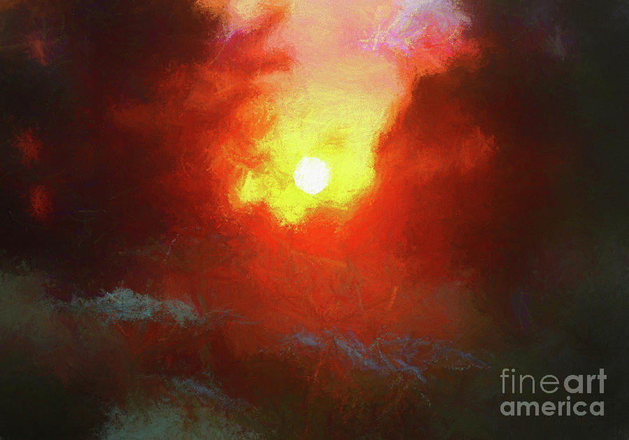 Sunset Mixed Media - Evening Afterglow by Helen White