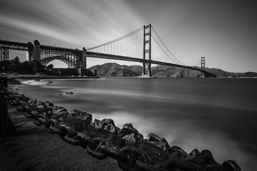 Golden Gate Bridge Photograph - Evening At Golden Gate Bridge by Mike Burgquist