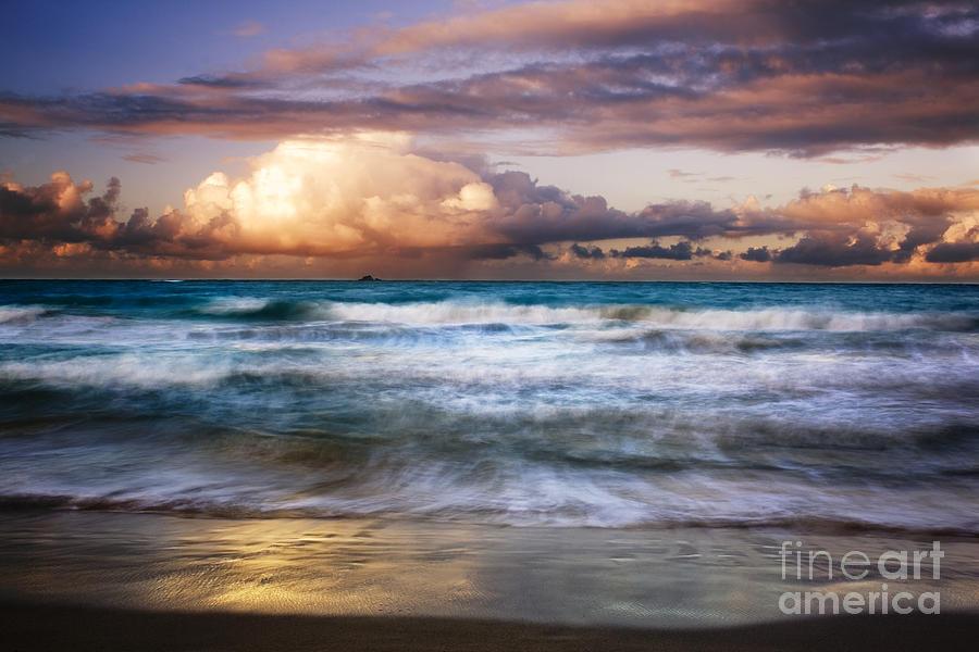 Landscape Photograph - Evening At Kailua Beach by Charmian Vistaunet